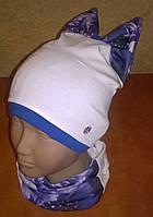 Красивый и оригинальный комплект шапка + хомут, фото 1
