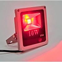 Светодиодный прожектор LED 10Вт , IP66,красный