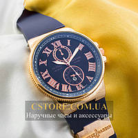 Мужские наручные часы Ulysse Nardin maxi marine gold blue (05278)