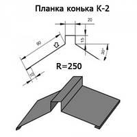 Планка конька К-2 250 длина 2м