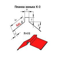 Планка конька К-3 416 длина 2м