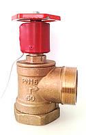 Кран пожарный угловой латунный Ду-50 В/Н под датчик положения ДППК, Одесса
