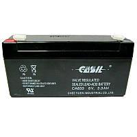 Аккумулятор свинцово-кислотный Casil CA633  6-3,3 (6V,3,3Ah)(123х32х60)(для весов)