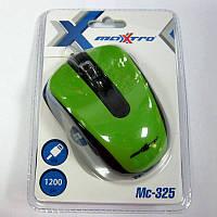 Компьютерная мышка Maxxtro Mc-325-G  зеленая ,USB