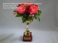 """Кубок с розами из конфет в подарок""""Лучшему учителю""""№9, фото 1"""