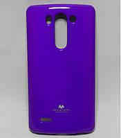 Чехол силиконовый на LG G3S BEAT D724, D722, D725, D728 Mercury, Фиолетовый