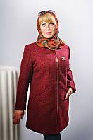 Кардиган женский Шанель шерсть  длинный больших размеров новинка  модель в размерах 52, 54, 56, 58 серый