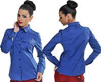 Рубашка женская с карманчиком на груди 21- 5189