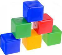Набор детских кубиков цветных 20 шт