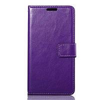 Чехол книжка для LG G3S BEAT D724, D722, D725, D728 боковой с отсеком для визиток, Фиолетовый