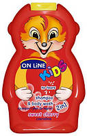 Шампунь & гель для душа On Line kids sweet cherry 0.250 мл