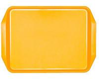 Поднос прямоугольный с ручками желтый 43х31см (591802)