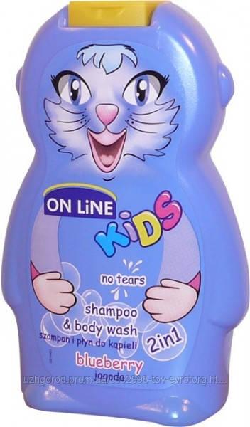 Шампунь & гель для душа On Line kids blueberry 0.250 мл