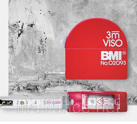 Рулетка измерительная 3 м, продольные измерения, внутренние измерения, получение радиусов, Viso BMI 405341030
