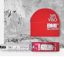 Рулетка измерительная 3 метра, продольные измерения, внутренние измерения, получение радиусов, Viso BMI 405341