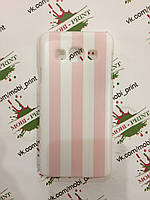 Чехол для Samsung Galaxy A3 (Розово-белые полоски)