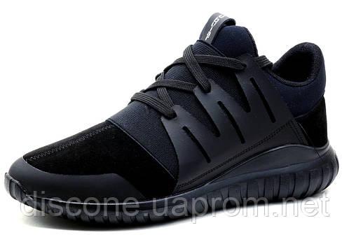 Кроссовки Adidas Tubular, мужские, кожа, черные