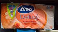 Туалетная бумага ZEVA Deluxe 3 cлоя 8 рулонов