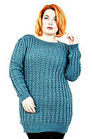 Свитер вязанный удлиненный Анна (8 цветов), свитер женский для полных, туника вязаная, дропшиппинг украина