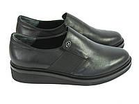 Женские черные туфли на низком ходу