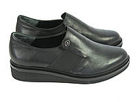 Женские черные туфли на низком ходу, фото 1