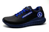 Кроссовки мужские Jordan, натуральная кожа, синие, фото 1