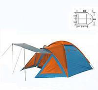 Палатка 4-х местная BL-1009 DOME TENT ((1,50+2,10)*3,00*1,85/1,70м, PL)