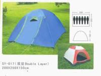 Палатка 6-и местная SY-017 (р-р 2,2*2,5*1,5м, PL, с тентом)
