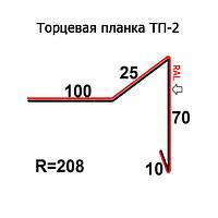 Торцевая планка ТП-2 208 длина 2м