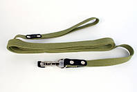 CoLLar поводок для собак гигантских пород 3м /35 мм  (брезент+кожа)