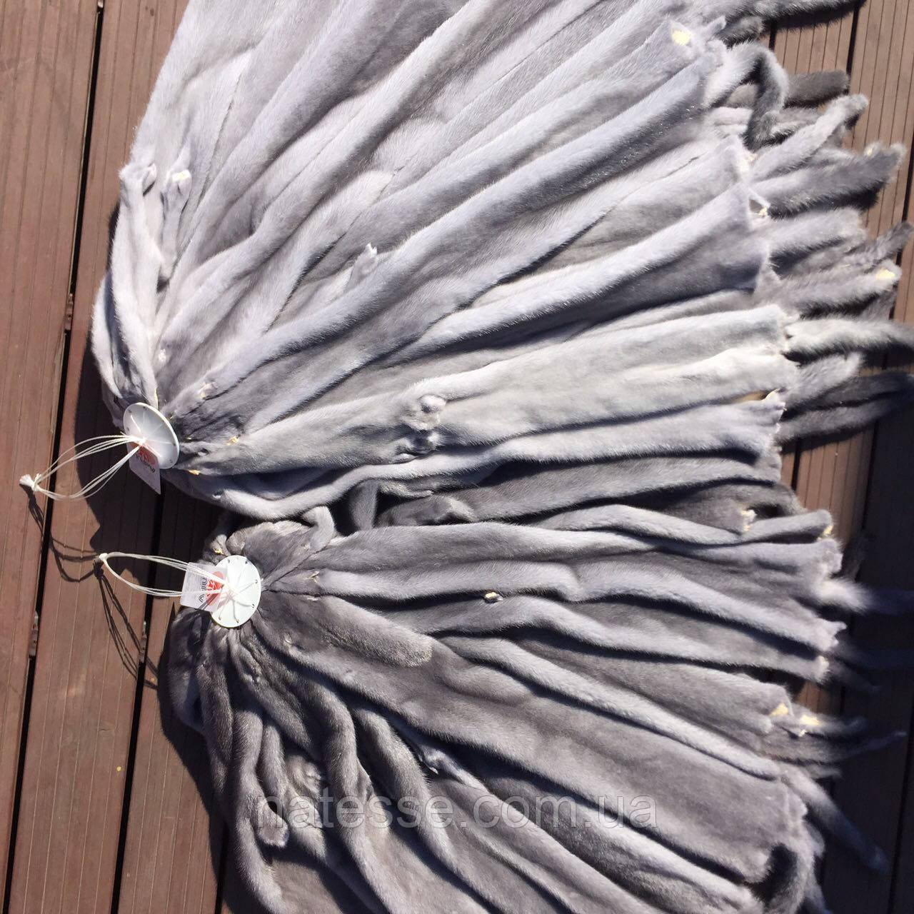 Шкури хутро норка сіро-блакитна, 70-75 см