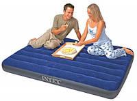Полуторный надувной матрас Intex Classic Downy 137Х191Х22 см.