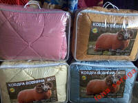 Одеяло в чехле полуторка овечья шерсть-производитель Украина