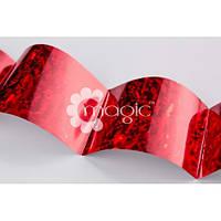 Фольга голограмма красная Осколки льда