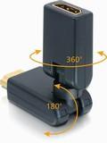 Перехідник моніторний,HDMI M/F,вверх/вниз +360°