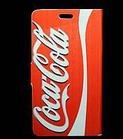 Чехол книжка для Lenovo A7000 боковой Double Case, Coca Cola и Jack Daniels