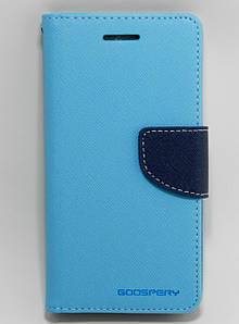 Чехол книжка для Lenovo Vibe S1 боковой с отсеком для визиток, Mercury GOOSPERY Голубой