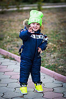 Детский комбинезон с натуральным мехом