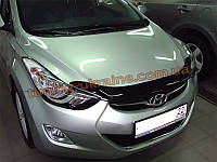 Дефлекторы капота Sim для Hyundai Elantra Седан 2011-16
