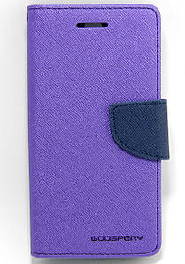 Чехол книжка для Lenovo Vibe S1 боковой с отсеком для визиток, Mercury GOOSPERY Фиолетовый