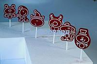 "Форма для конфет на палочке ""новогодние звери"" Martellato 20-C024 (60x70 мм)"