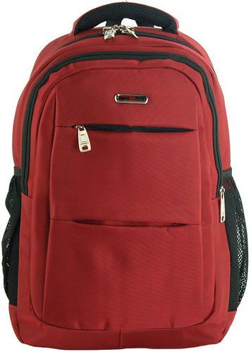 Вместительный городской рюкзак 20 л. Traum 7046-37 бордо