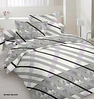 Комплект постельного белья сатин односпальный полоска серый