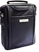 Мужская текстильная городская сумка через плечо LEADHAKE 6851 темно-серая