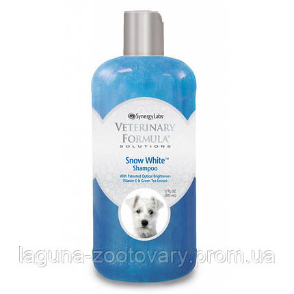 Veterinary Formula Snow White Shampoo ВЕТЕРИНАРНА ФОРМУЛА БІЛОСНІЖНО БІЛИЙ шампунь для собак і кішок зі світлою шерстю, з вітаміном Е і екстракт, фото 2