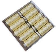 Нитки шелковые вышивальные 150D/3 (10шт/уп) Желтые