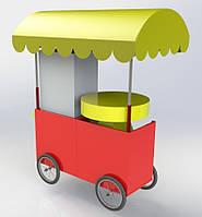 Тележка Комби-1 для аппаратов сахарной ваты и попкорна