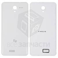 Задняя крышка батареи для мобильного телефона Fly IQ4416, белая, оригинал, #5846010026