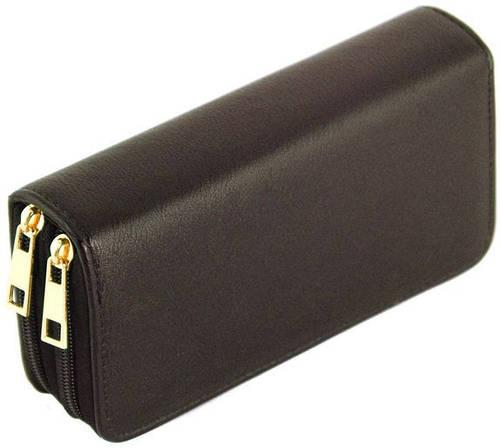 Стильный мужской бумажник-портмоне из искусственной кожи Traum 7110-11, темно-коричневого
