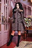 Женское зимнее пальто с мехом арт. 842 Dracena/50 Тон 10